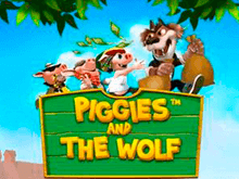 Онлайн игра Piggies And The Wolf